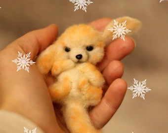 Needle felted fennec-Fennec-Handmade fox-Figure fox-Free shipping