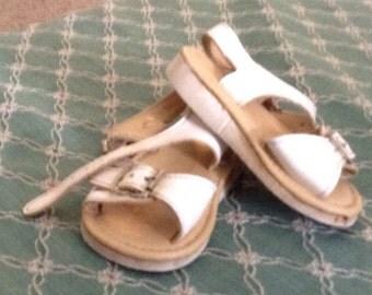 Vintage White Childs Sandals