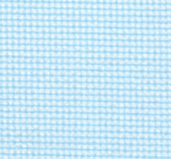 Aqua Check Seersucker Fabric, Fabric Finders, 100% Cotton, Aqua Check