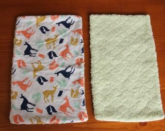 Woodland Creatures Burp Cloth (set of 2)