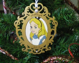Personalized Alice in Wonderland Christmas Ornament