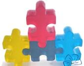 Autism puzzle soap set, Autism Awareness, Autism Support,Autism Gift, Puzzle Soap, Handmade Soap, Childrens Soap, Pack of 4