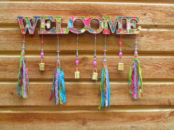 Outdoor Welcome Sign Front Door Decor Front Door Decoration