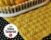Loom Knitting Stitch PATTERNs The Basket Weave Stitch with Video Tutorial