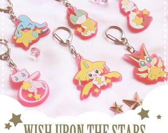 Pokemon Psychic type Key Chain - Wish Upon the Stars