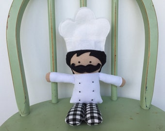Chef, rag doll, perfect for imaginative play!