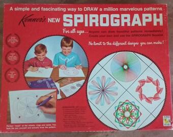 Vintage 1960's Kenner Spirograph. Vintage art set. Spirograph #401