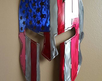 "America/Spartan metal art wall hanging, ""MADE TO ORDER"""
