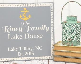 Lake House Sign - Lake Signs - Custom Lake House - Lake House Decor - Personalized Sign - Lake Decor - Last Name Sign -Lake Sign -Cabin Sign