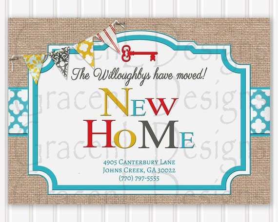 new home change of address card new home address card change