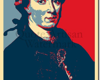 Immanuel Kant Original Art Print - 12x8 Inch Photo Poster Gift - Obama Hope Parody