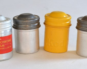 Vintage Film Cans / Canisters / Containers x4 Kodak, Ansco and Plain
