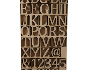 Wooden letters, numbers & symbols Freestanding