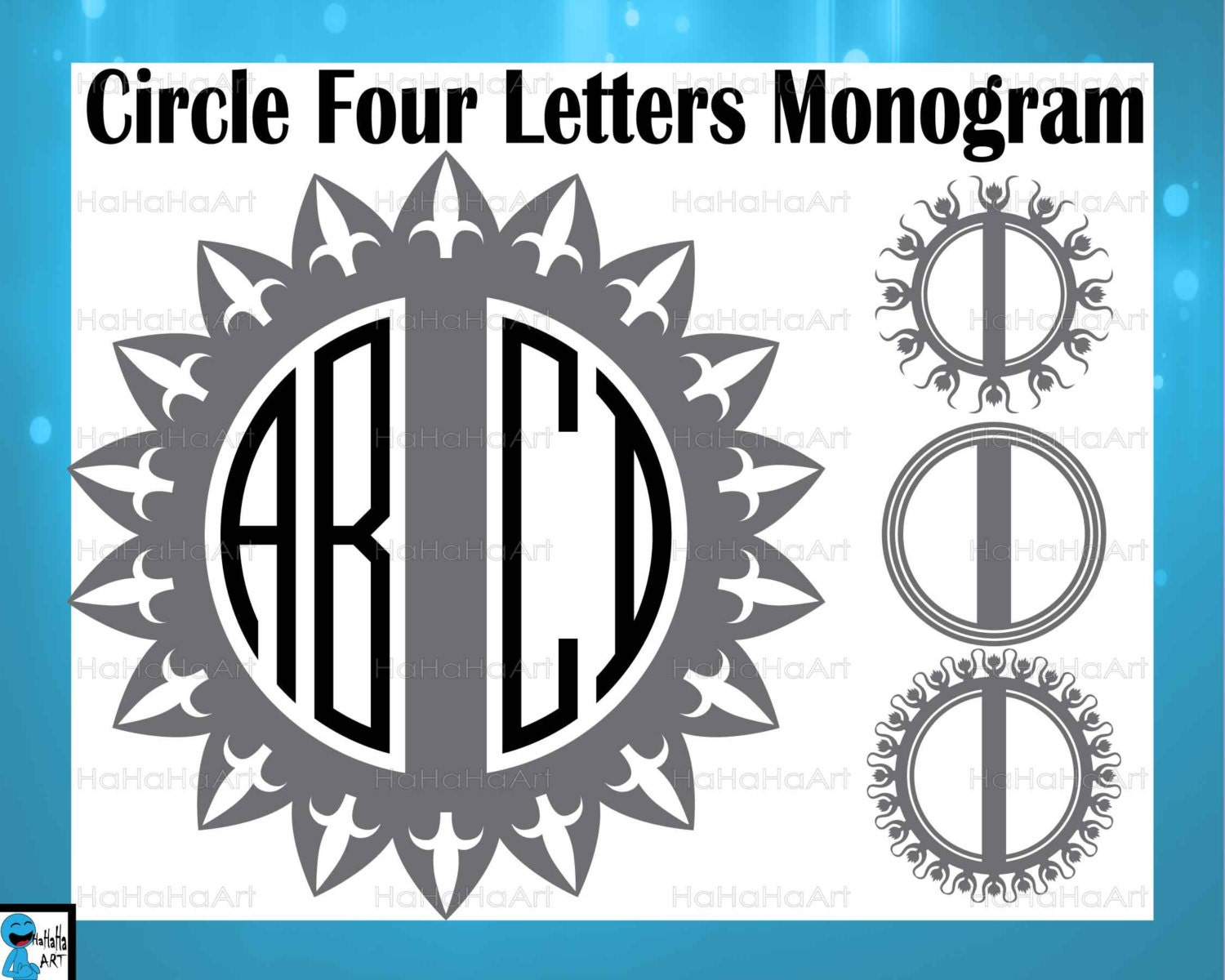 letter circle monogram by craftylittlenodes split circle four letters alphabet monogram black cutting 4
