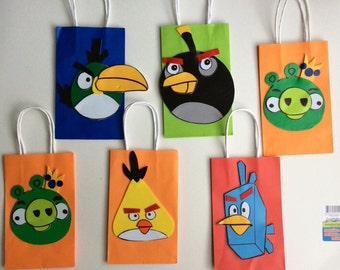 Angry birds set of 6 bag. Ideal for parties