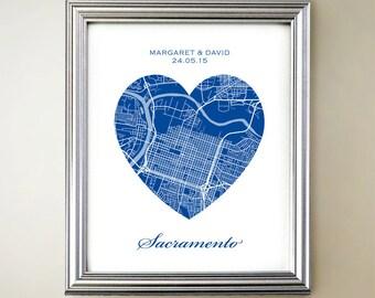 Sacramento Heart Map