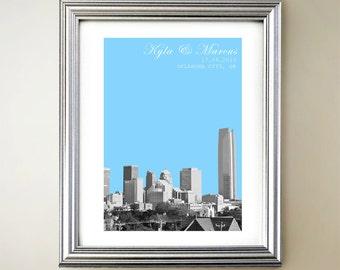 Oklahoma City Personalized Cityscape