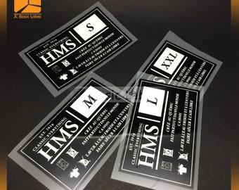250 Tagless Heat transfers labels - Iron on labels ,heat transfer vinyl