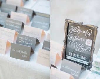 Calligraphy Place Cards - Custom