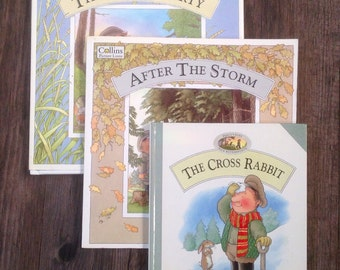 Vintage Children's Books by Nick Butterworth.The Rescue Party, After The Storm, The Cross Rabbit. 1993.