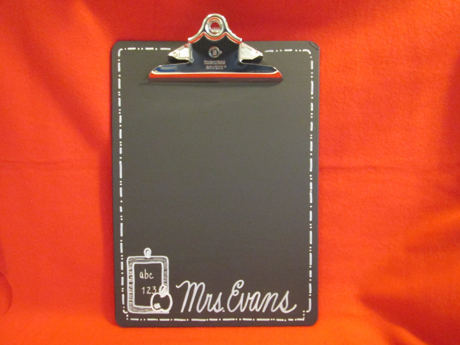 Teacher Gift Chalkboard Clipboard Large 9 by ...