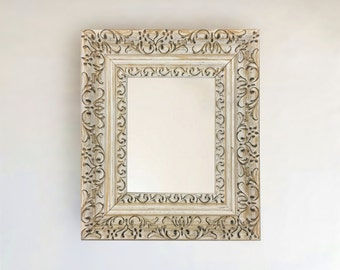 Vintage French Country Ornate Framed Beveled Wall Mirror Inside size 8x10, 11x14, 16x20, 24x30 24x36, 30x42, 20x40, 30x36  + More & Custom!