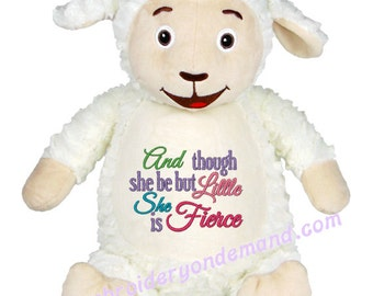 Personalized Stuffed Lamb, Cubbies, Baby Gift