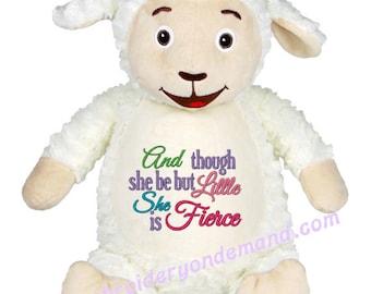 Personalized Stuffed Lamb