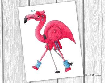 Originalillustration Flamingo