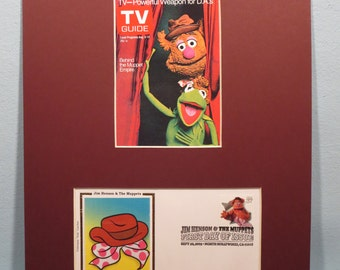 Jim Henson - The Muppet Show featuring Kermit and Miss Piggy and First Day Cover of the Fozzie Bear stamp