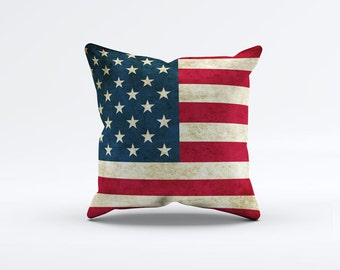 Flag of USA Throw Pillow Cover 15 x 15 inch