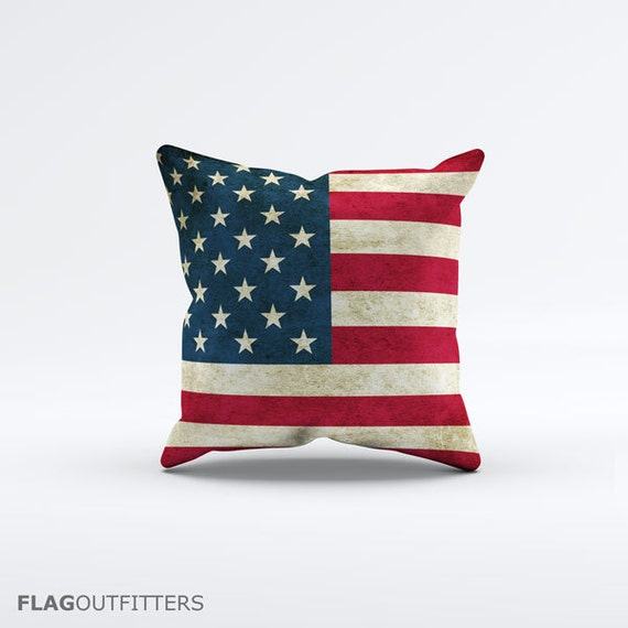 15 Inch Throw Pillow Covers : Flag of USA Throw Pillow Cover 15 x 15 inch
