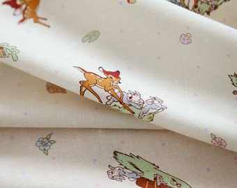 Disney Bambi Pattern Digital Printing Cotton Fabric by Yard