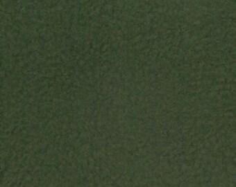 Solid Dark Green Anti-Pill Fleece By The 1/2 Yard