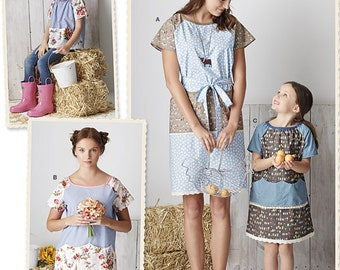Simplicity Sewing Pattern 8087 Child's and Misses' Pullover Dress and Top