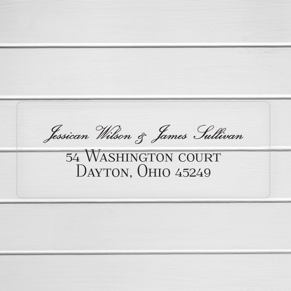 Wedding Invitation Return Address Labels Clear Wedding