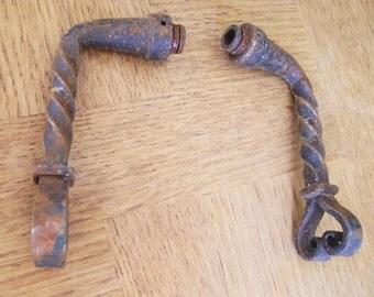 Antique French Rustic Door Handles.   Hardware