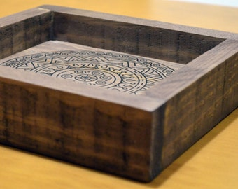Box wooden mandala (mandala box wood)
