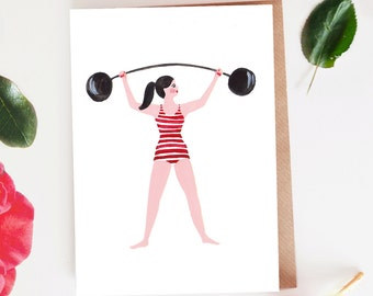 Strongwoman Blank Card