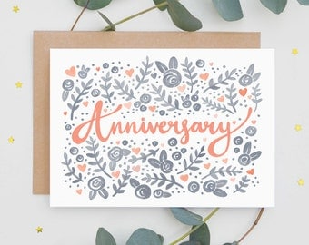 Folk Pattern Anniversary Card
