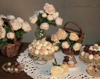 Peonies   - Artisan handmade miniatures by CosediunaltroMondo