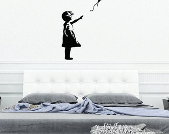 Balloon Girl Wall Decal - Banksy Wall Art, sticker, vinyl wall art, home decor