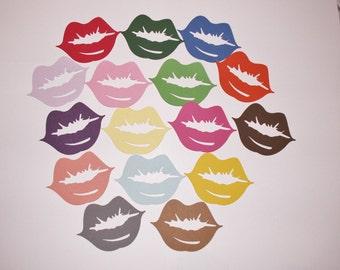 paper lips, lips, die cut lips, embellishment lips,
