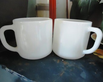 Federal Glass Milk Glass Mugs