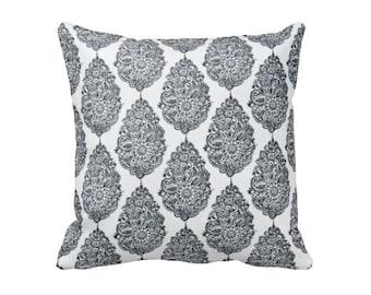Grey Pillow Cover - Grey Throw Pillow Cover - Decorative Pillows for Couch Pillows - Damask Pillows - Floral Pillows - Paisley Pillows