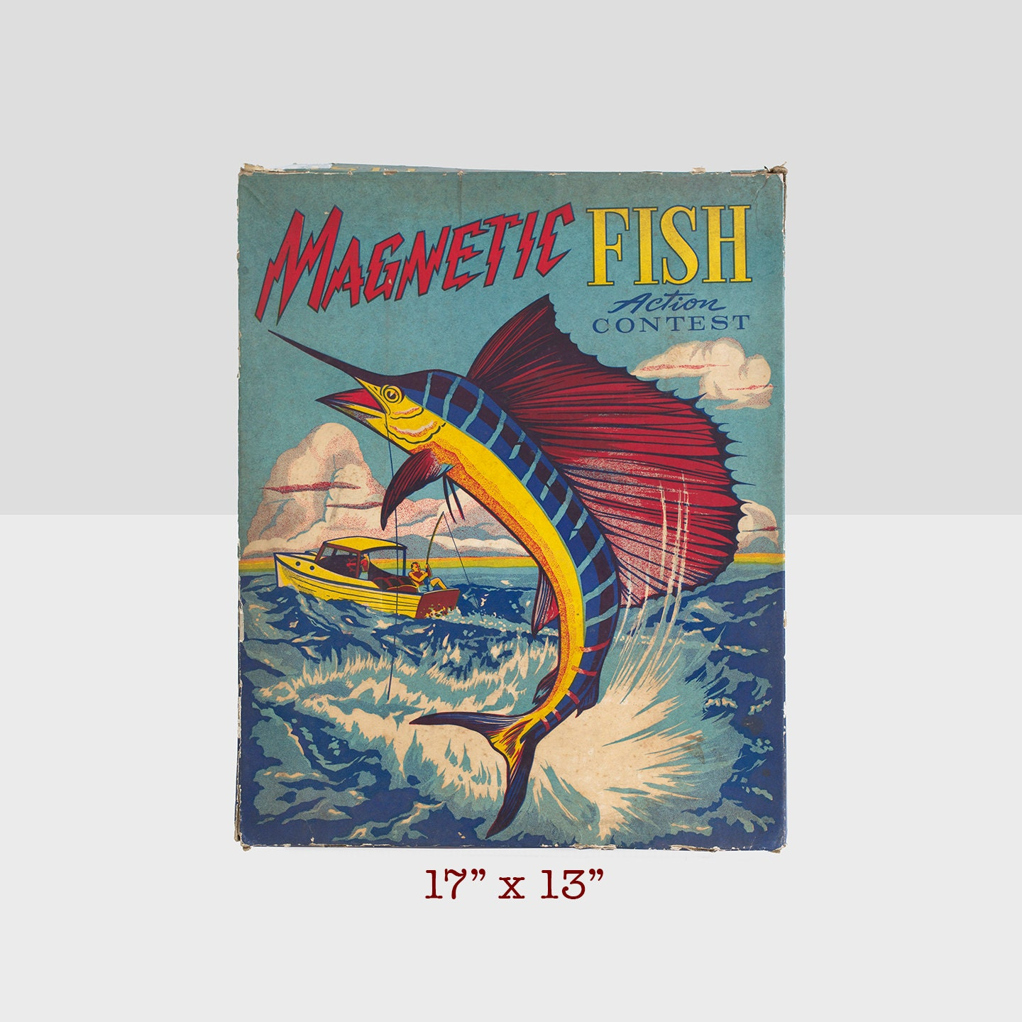Magnetic fish game transogram company game vintage magnetic for Illinois game and fish