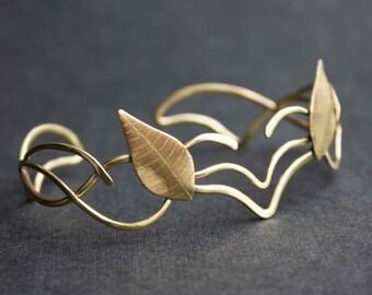 Elven bracelet, Leaves bracelet, Elf bracelet
