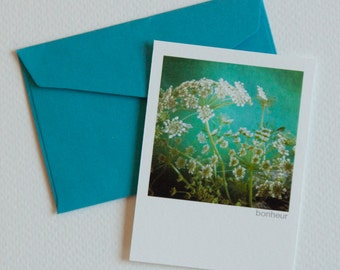 """MiniCard """"wild carrot"""" with way """"happiness"""" with envelope"""