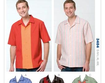 Kwik Sew Pattern K3484 Men's Bowling Shirts