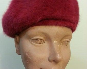 Pink Fuchsia Furry Kangol Hat